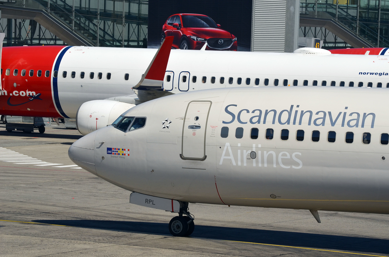 Flesland Airport is the main hub for Scandinavian Airlines (SAS).