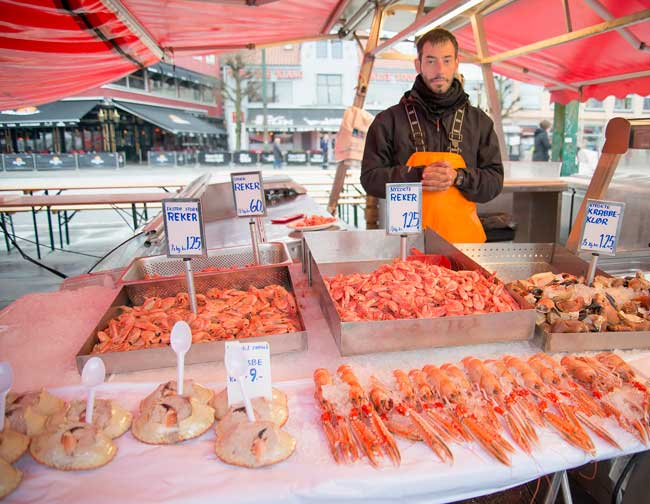 Bergen has a world-famous fish market where workers from around the world came to work.