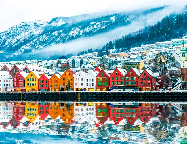 Bergen features a post card overview on Christmas!